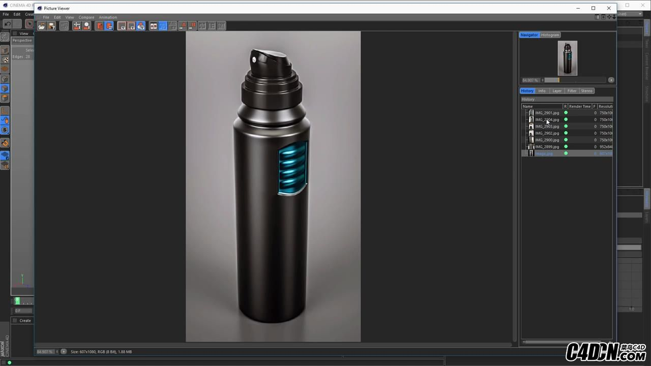 Deo Spray Can modeling (Cinema 4D Tutorial)_20160928220622.JPG