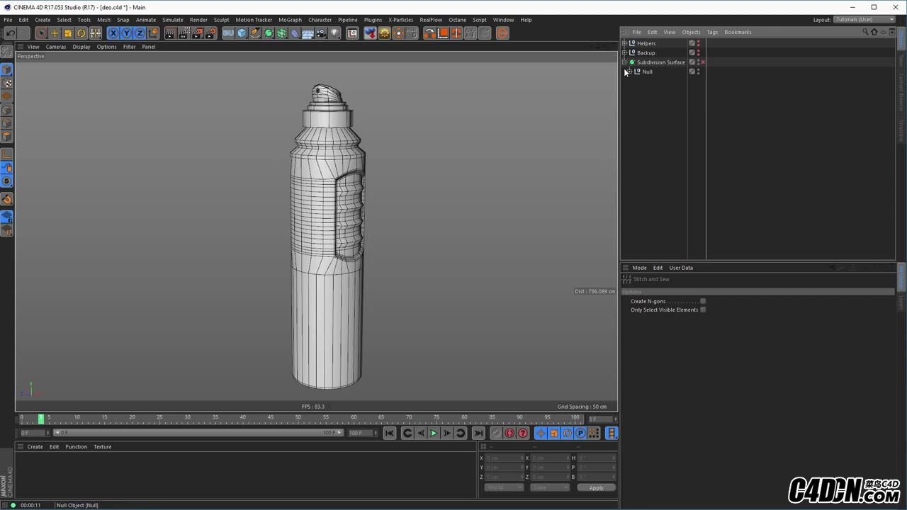 Deo Spray Can modeling (Cinema 4D Tutorial)_20160928220641.JPG