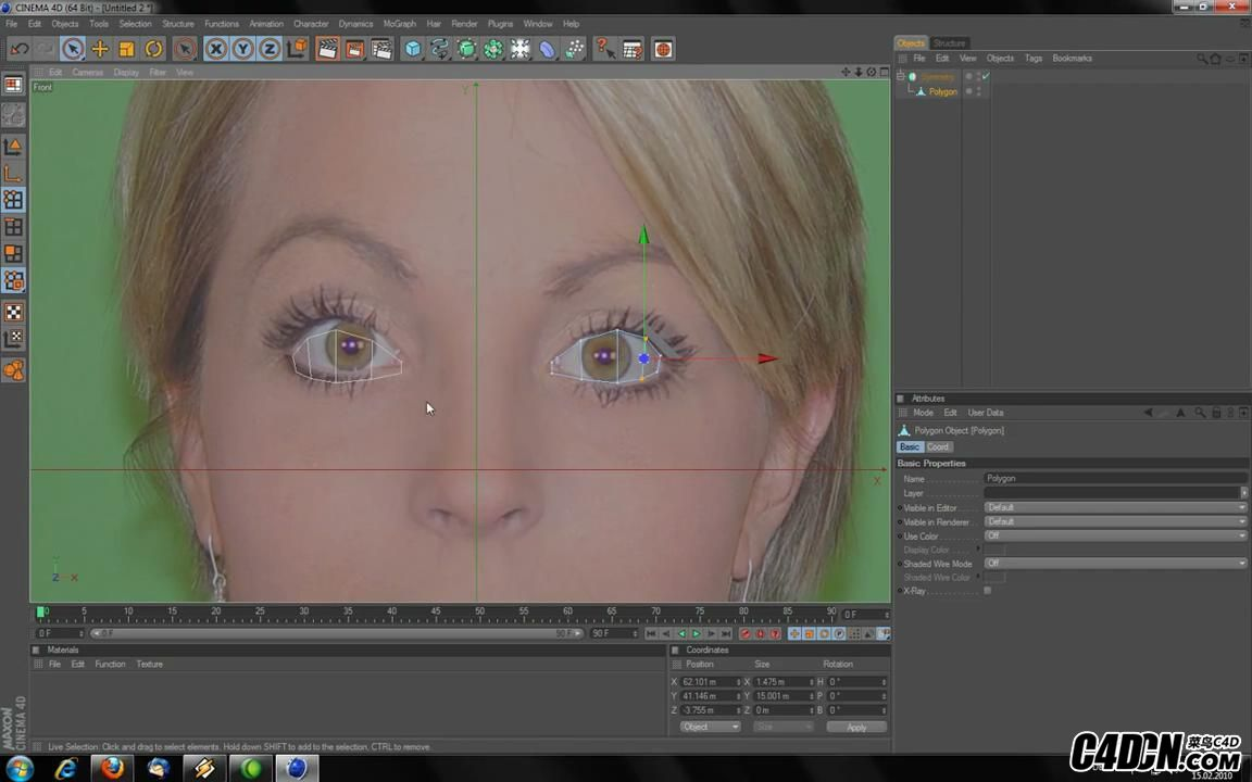 How to  Model a head in Cinema 4D HD_20160928214841.JPG