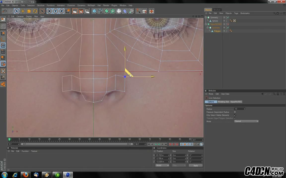 How to  Model a head in Cinema 4D HD_20160928214850.JPG