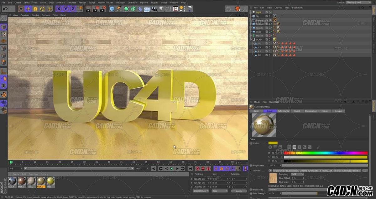 Tutorial Cinema 4D - Simulao de  Iluminao Natural_20160928222700.JPG