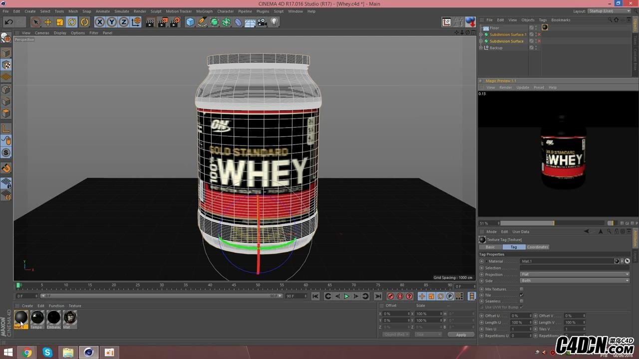 [Cinema 4D] Whey Protein   Physical Render_20160928220951.JPG