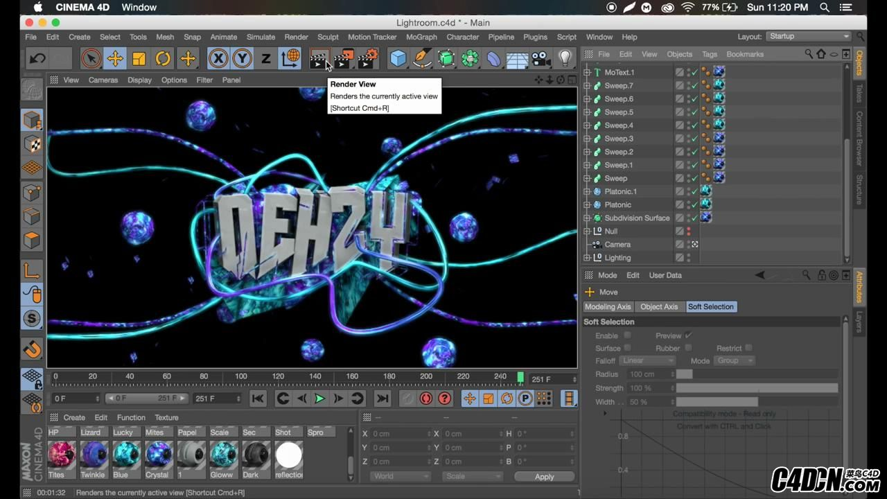 Tutorial- Sick Abstract Text Effect - C4D R17 by Qehzy_20160928223051.JPG