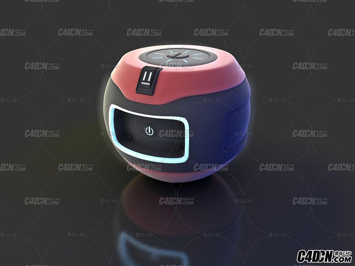 C4D 苹果专业主机垃圾桶模型 mac pro