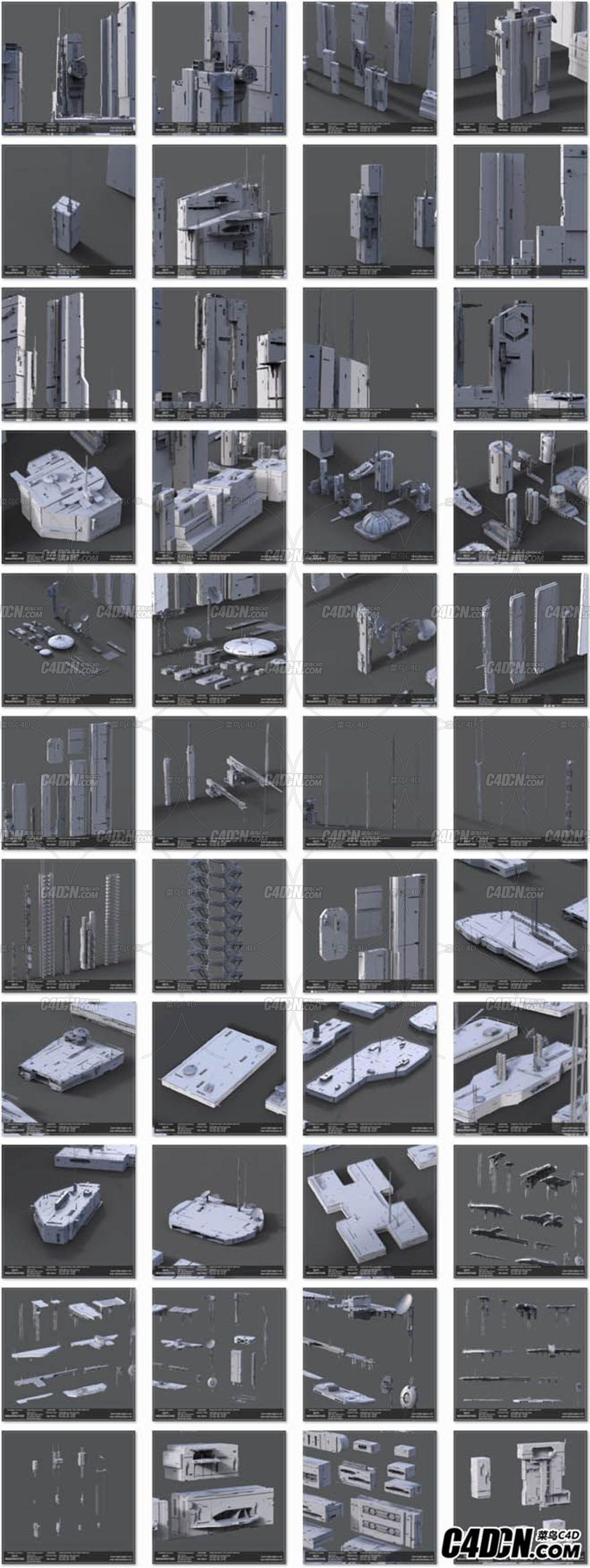 科幻环境场景模型包
