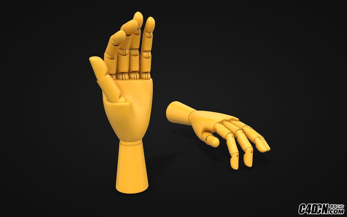C4D机械手模型