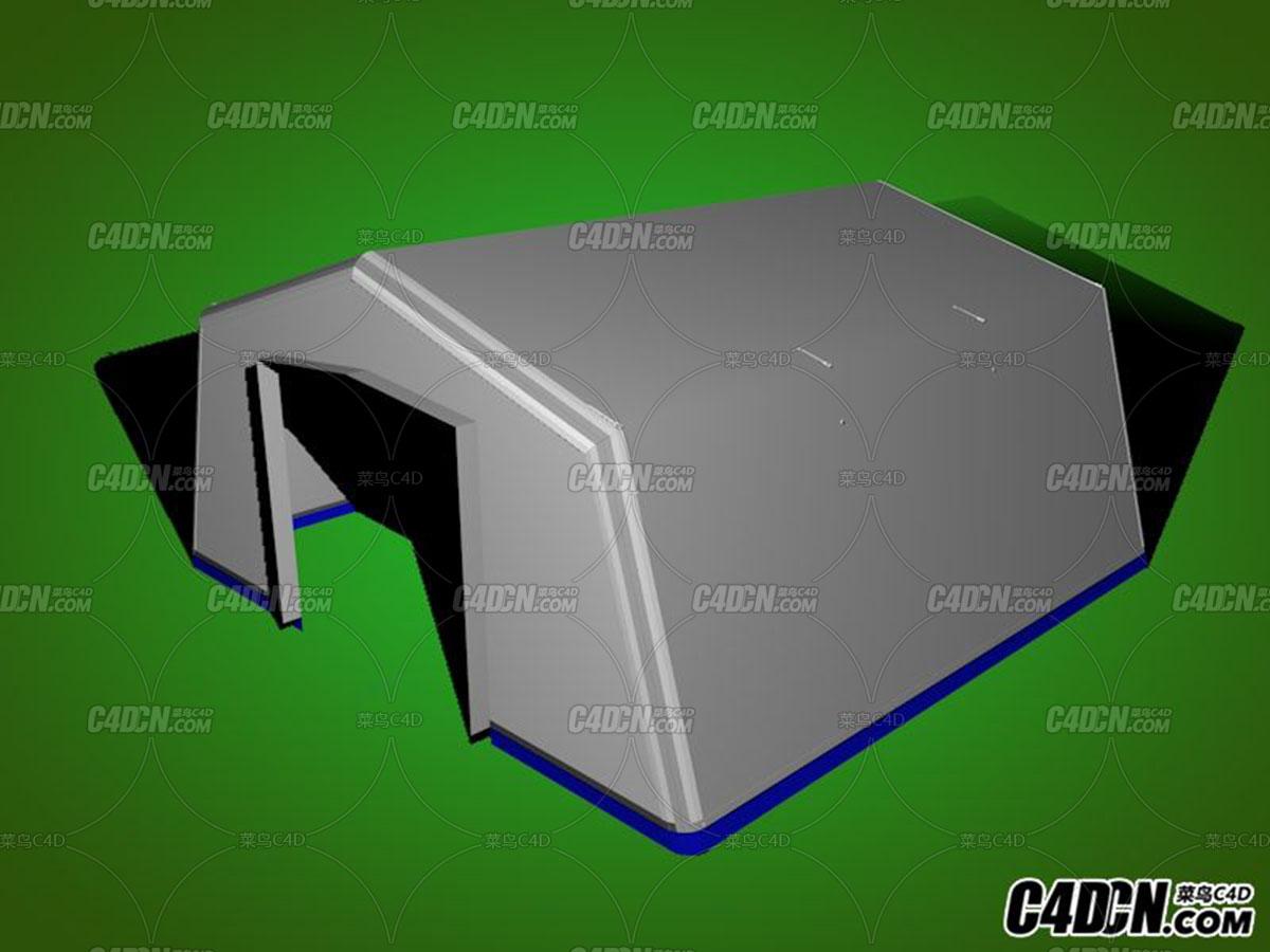 灾难救援帐篷SU模型-.jpg