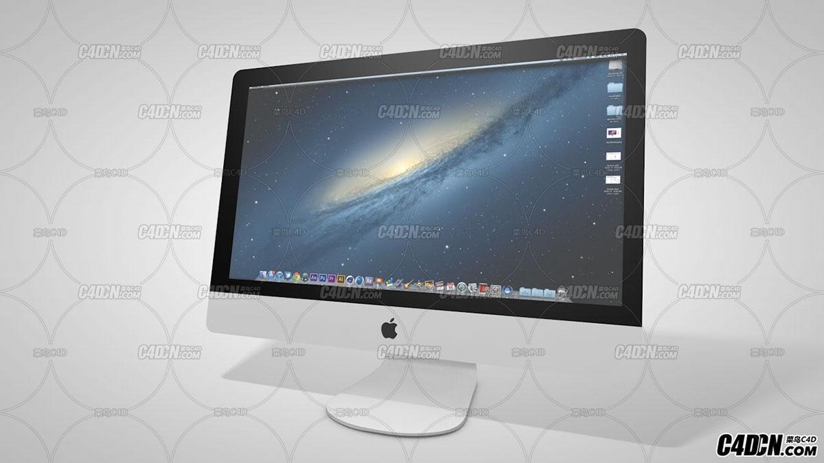 C4D苹果一体机显示器模型