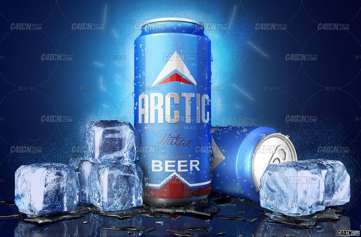 易拉罐饮料冰块冰珠材质教程