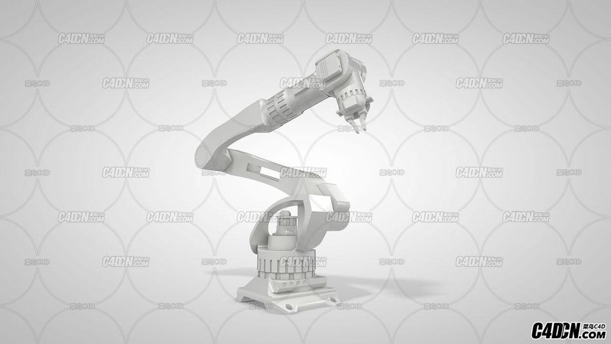 C4D机器人手臂机械臂模型