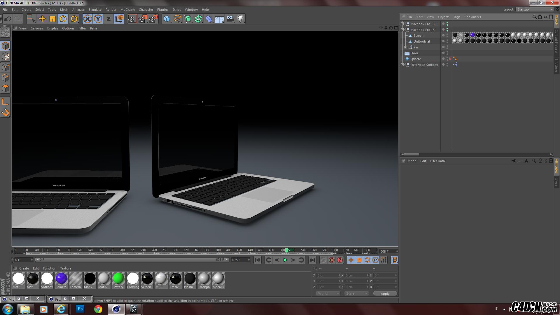 苹果MAC笔记本电脑 C4D模型