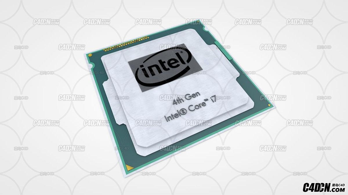 C4D 英特尔I7 CPU处理器模型