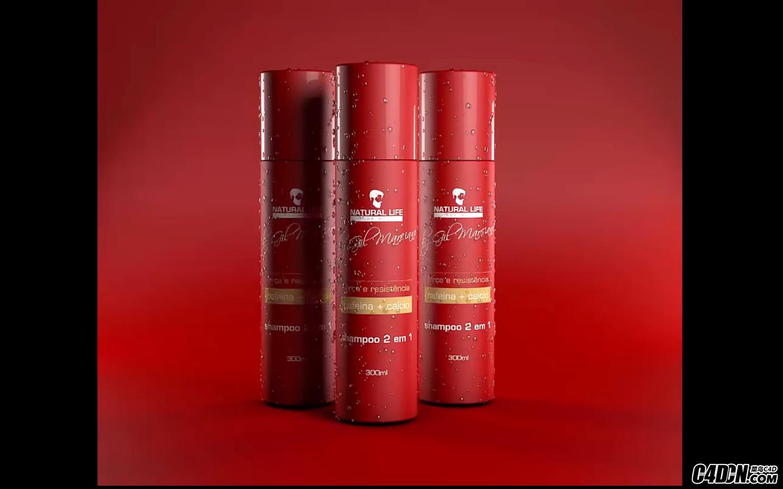 CINEMA 4D教程——化妆品建模包装设计与渲染