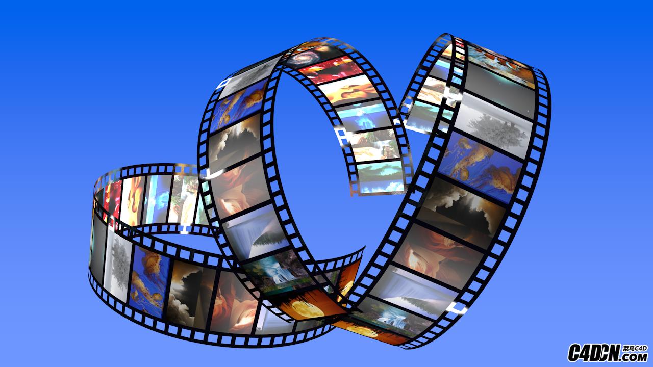 C4D教程 如何制作很实用的胶片图像位移动画(带工程文件)
