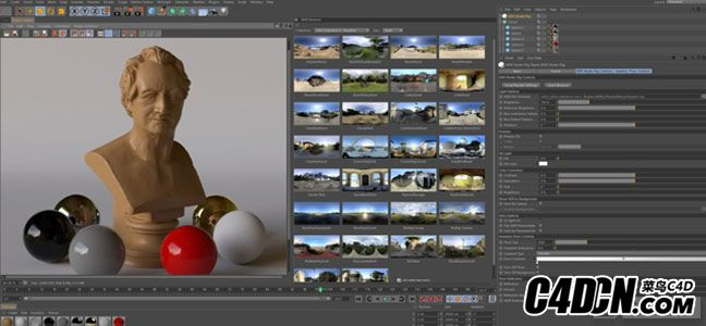 C4D插件 GSG HDRI Studio Rig 2.142+HDRI Packs【含中文安装教程】