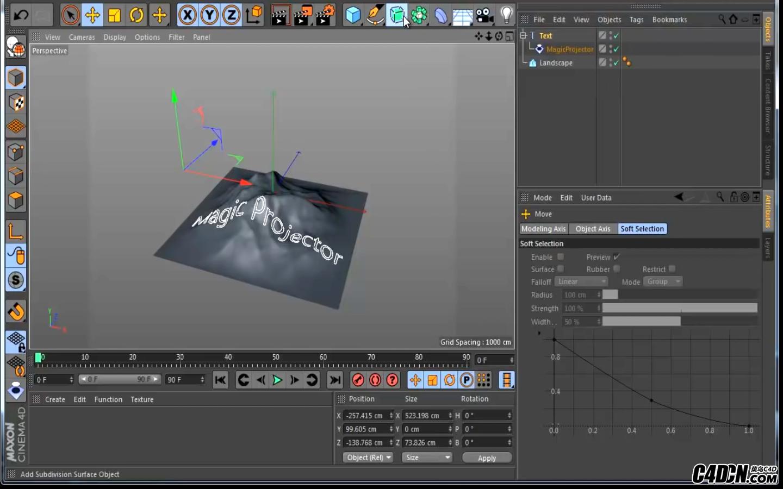 CINEMA 4D插件——魔术投射Magic Projector