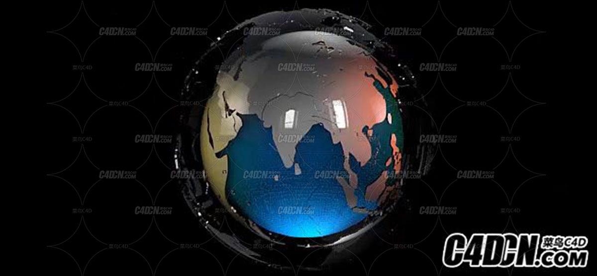[C4D+AE]制作地球earth元素新闻包装