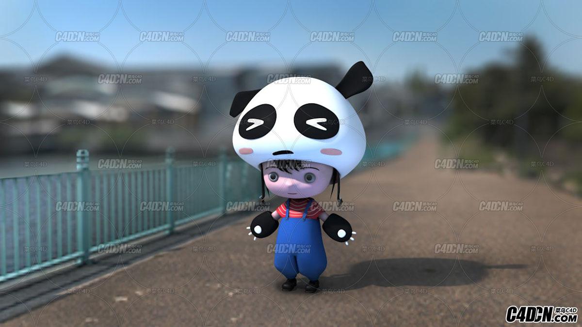 C4D超可爱卡通人物建模