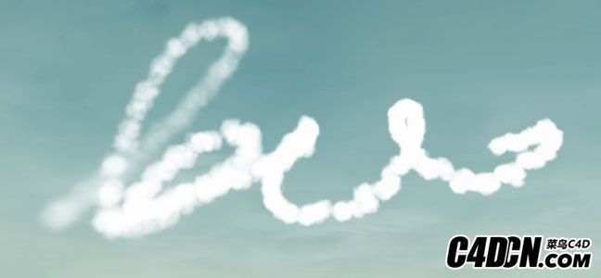 [C4D教程]C4D制作云層煙霧效果
