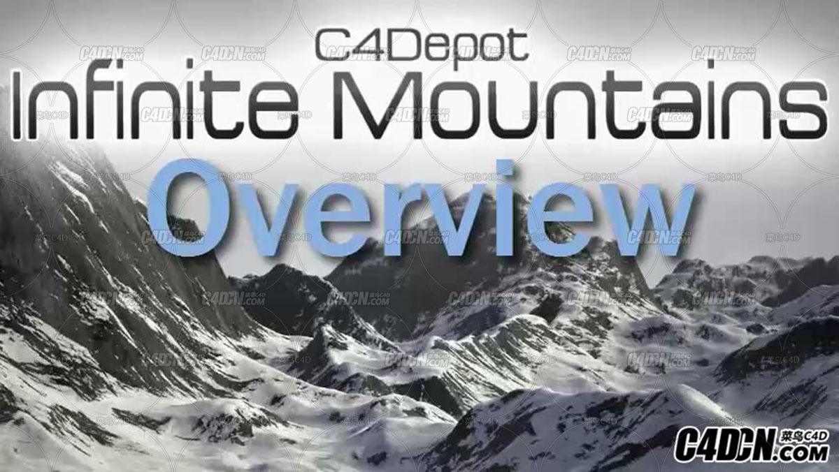 C4D无限雪山脚本预设汉化版 Infinite Mountains for Cinema 4D