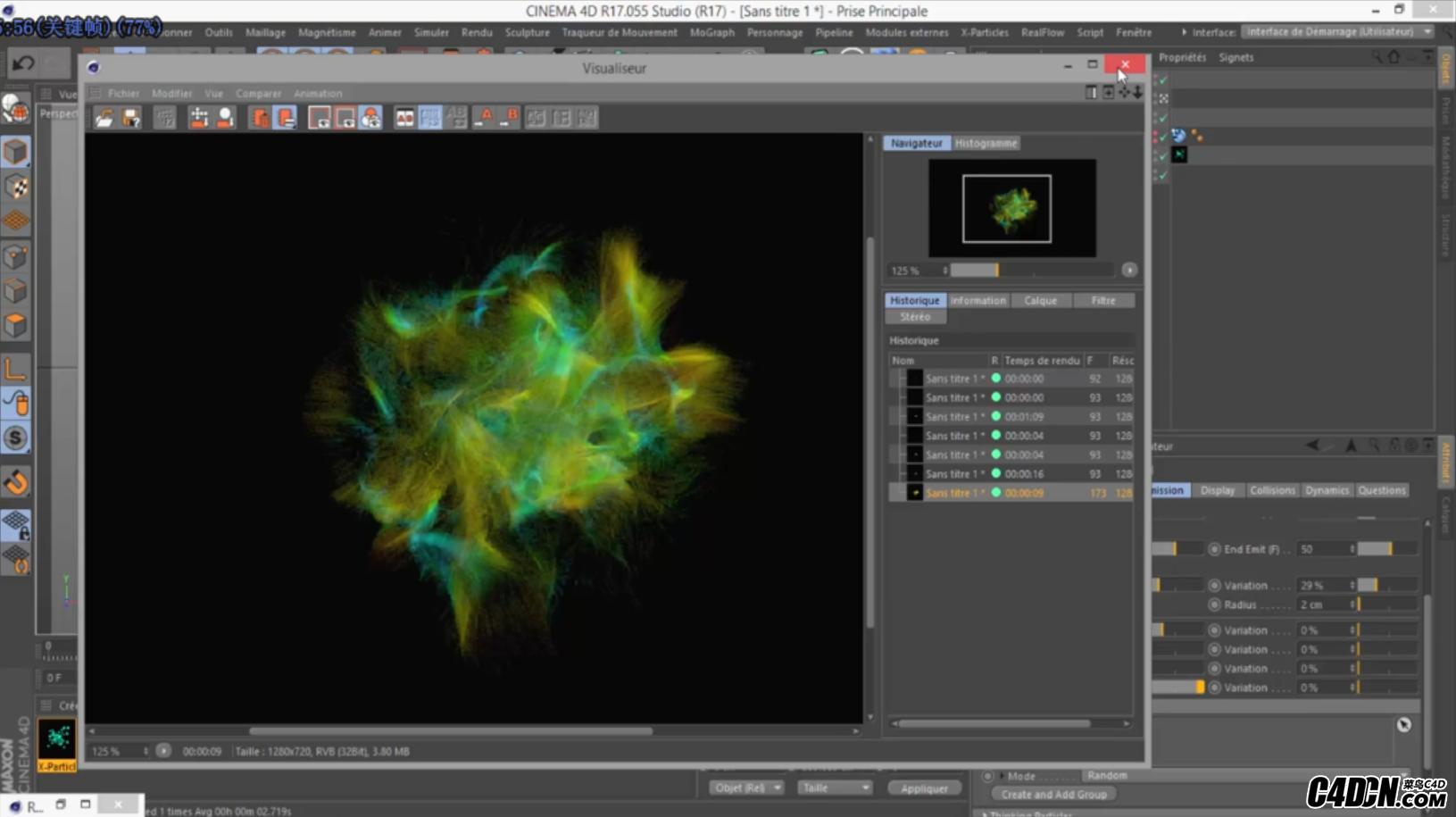 C4D教程-使用X particles与Krakatoa粒子渲染