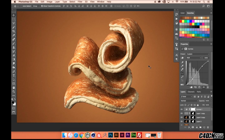 CINEMA 4D教程——美味煎饼的建模材质与渲染