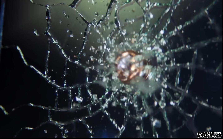 CINEMA 4D教程—— 紫蛋、击穿动画与现实的玻璃碎片