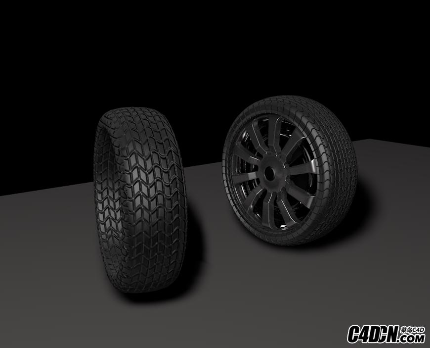 汽車輪胎小練習-UV貼圖