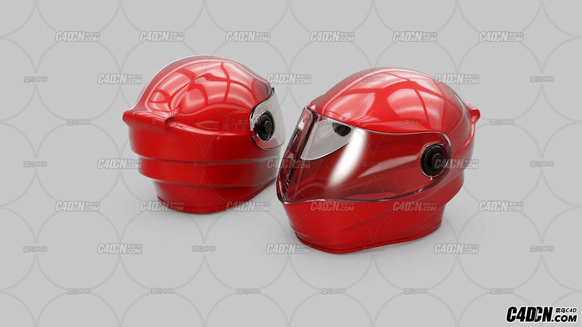 头盔-建模-渲染