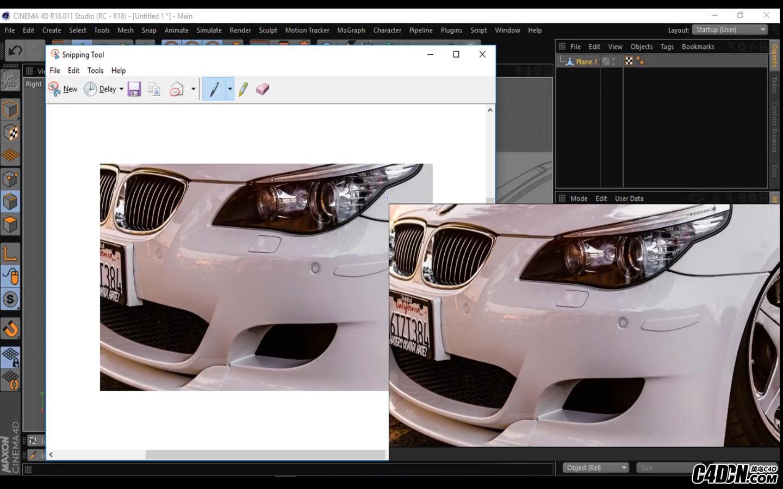 CINEMA 4D教程 ——汽車零件細節建模(寶馬M5 E60)