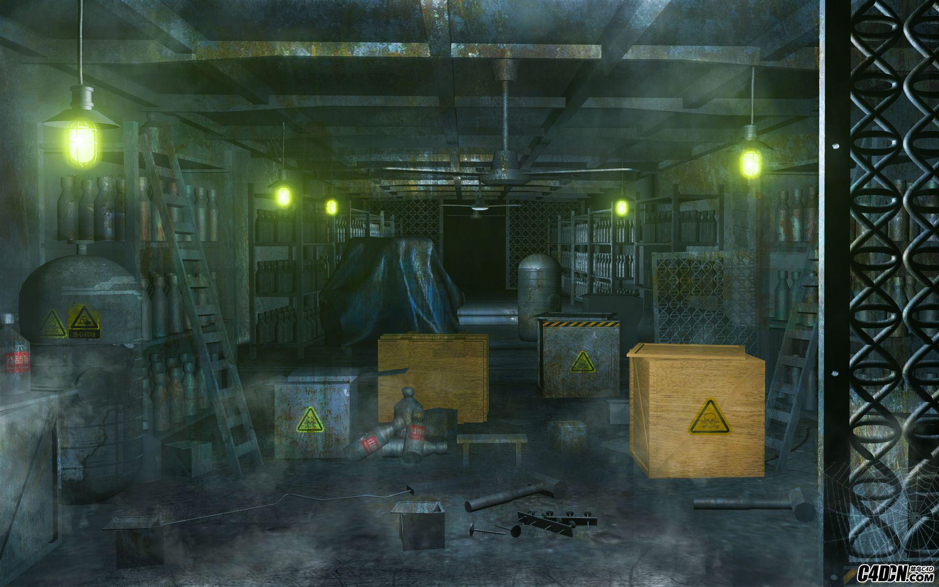 利用C4D打造二战时期的仓库