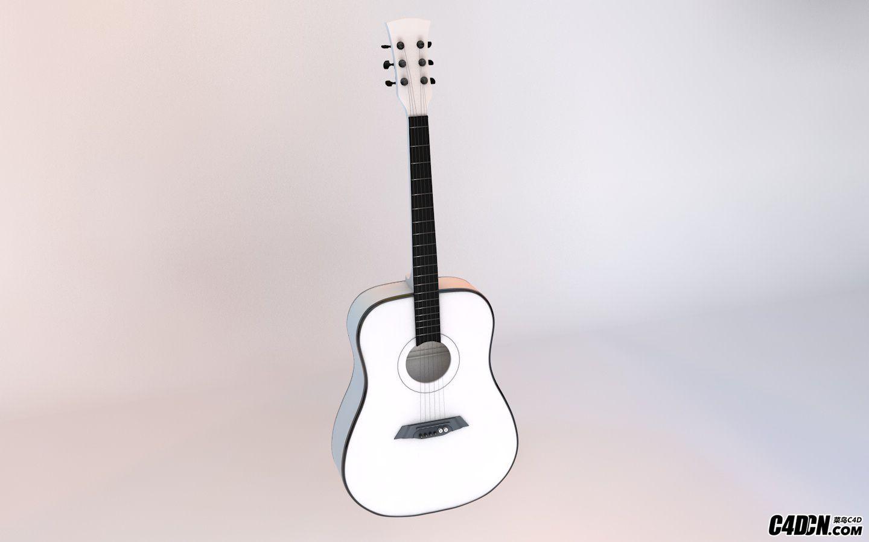 看白无常教程的吉他后,自己做的一个吉他