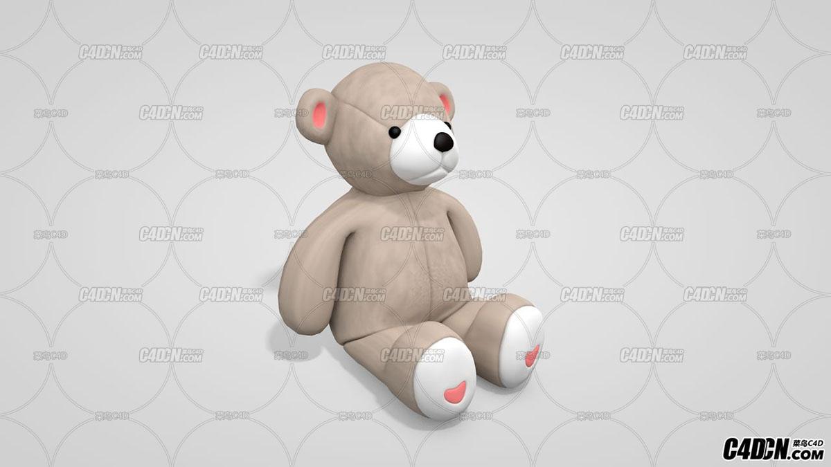 C4D模型 小熊玩偶模型 动物模型