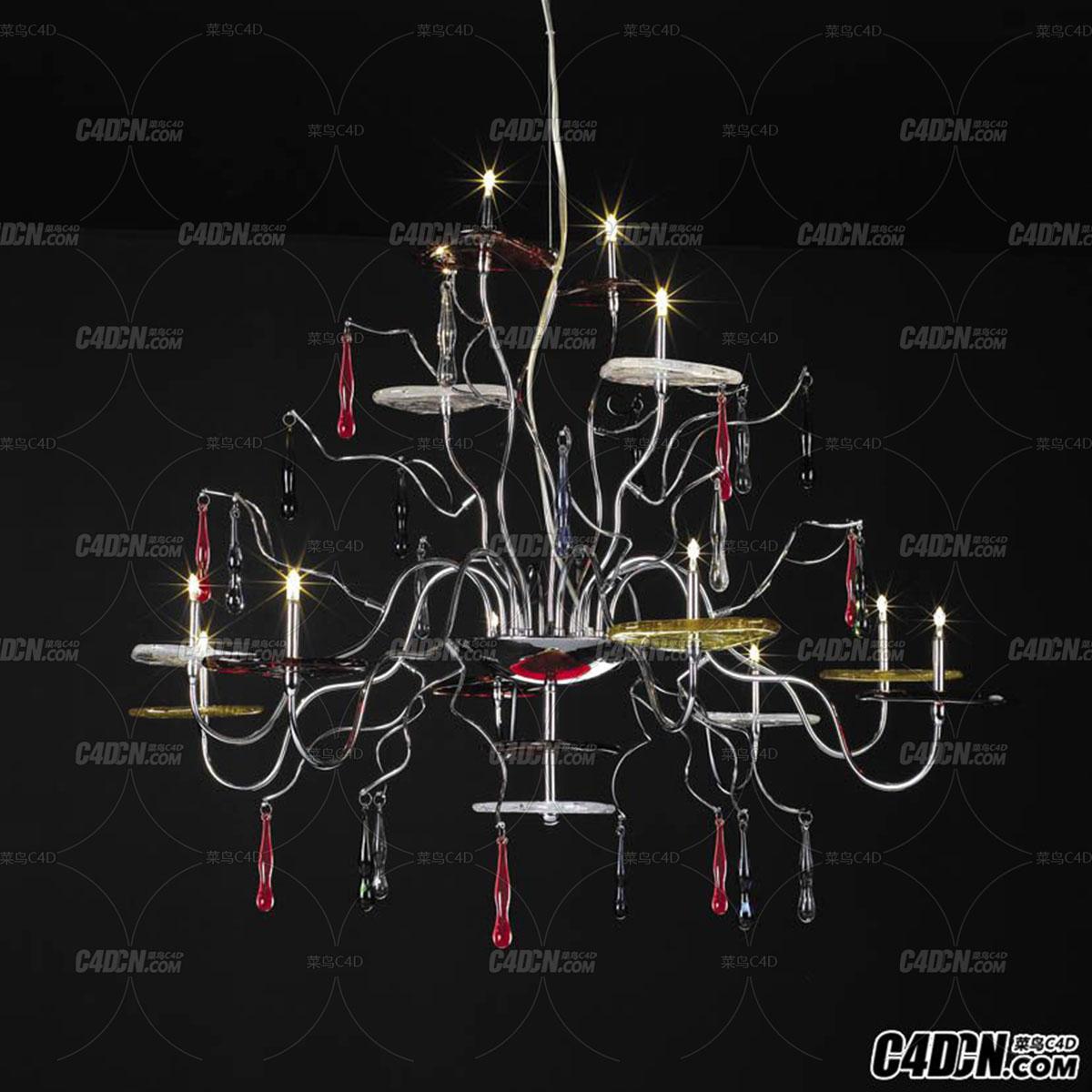 3D模型 现代装饰灯模型 MD6308-12A