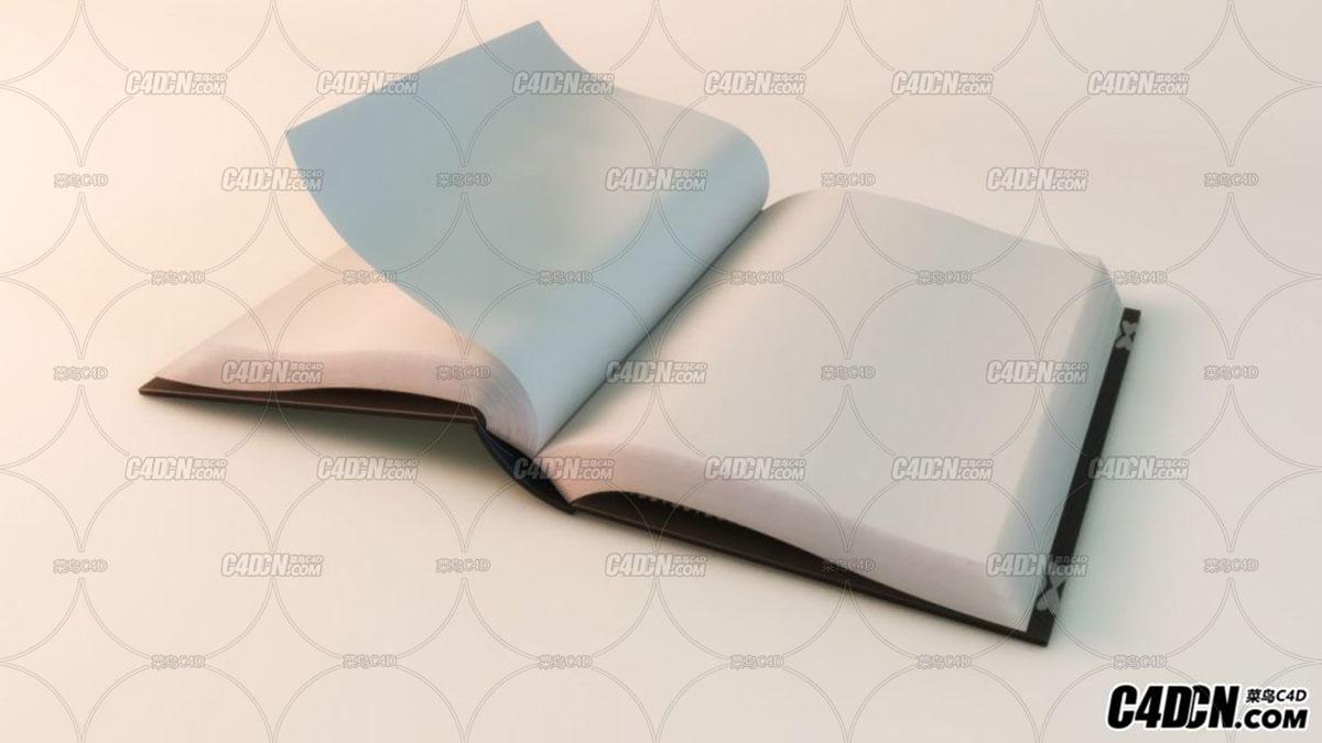 C4D翻书书本预设工程版RealBook v2.2