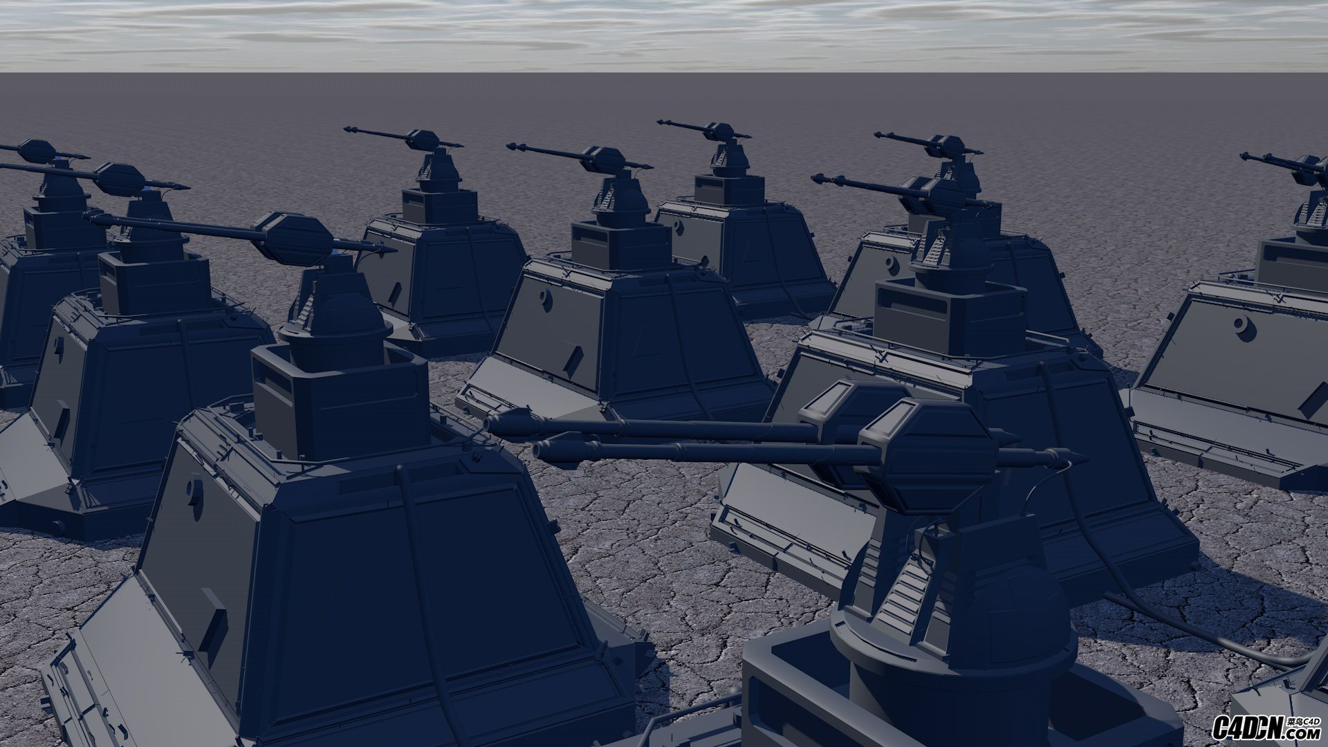 [雕塑/模型] 遗落战境机枪炮