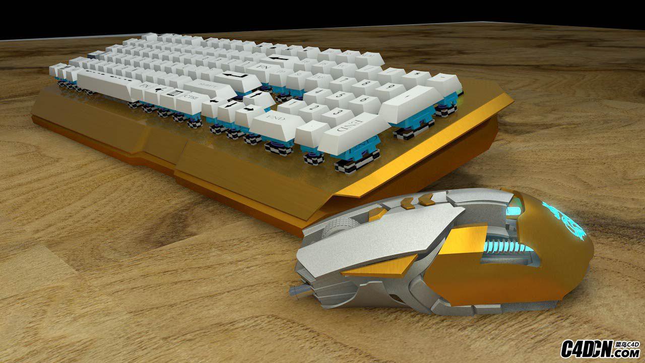 从建模到渲染 无线机械鼠标键盘