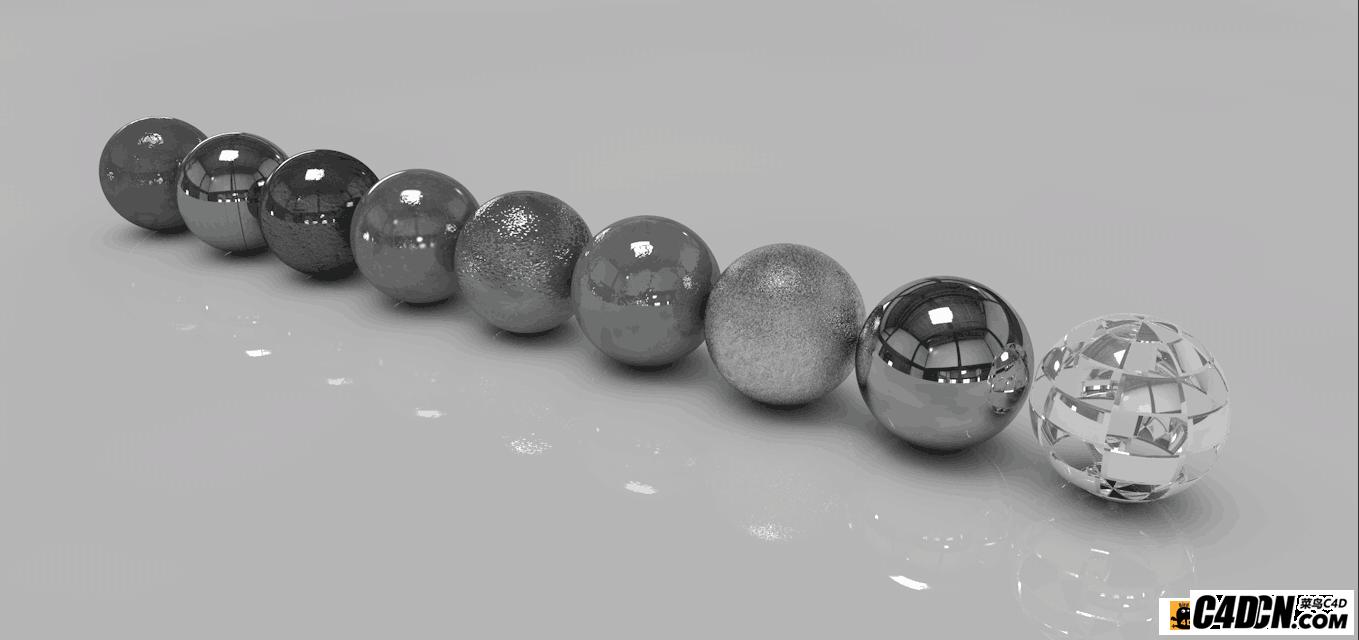 9个C4D金属材质