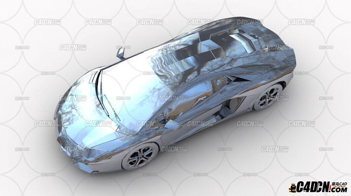 C4D vray铬材质工程