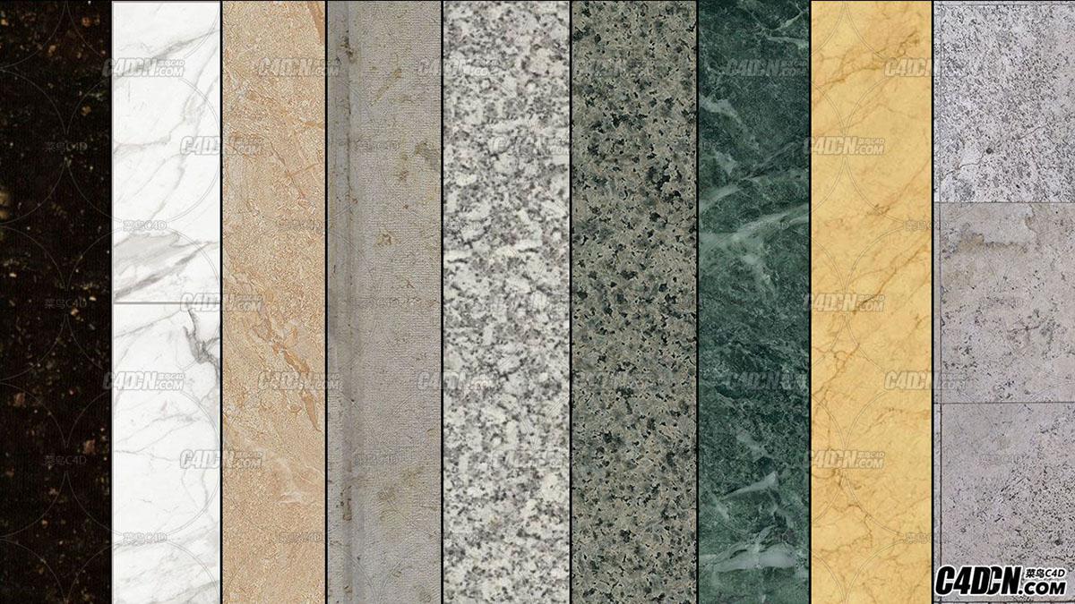116张 9种类别 高清花岗岩 大理石贴图素材