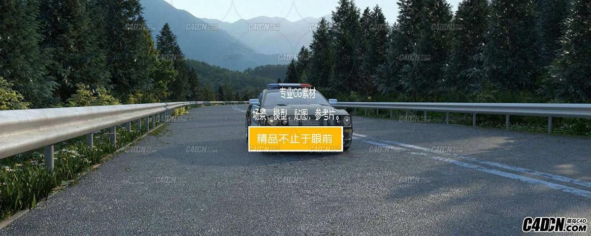 MAX模型 高速公路效果图工程