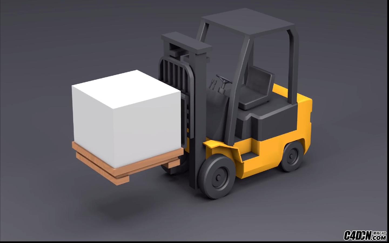 CINEMA 4D教學——建模和動畫一個叉車