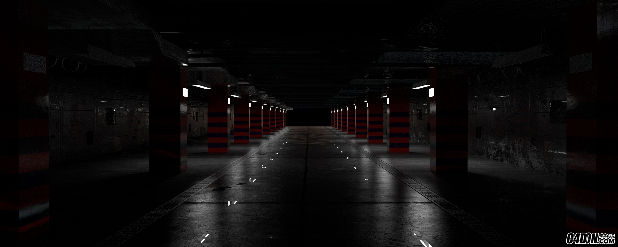 redshift车库渲染练习