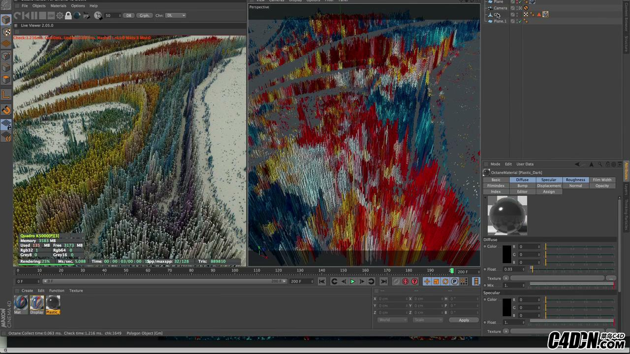 Making Colorful Abstract with X-particle in C4D_20180113175415.JPG