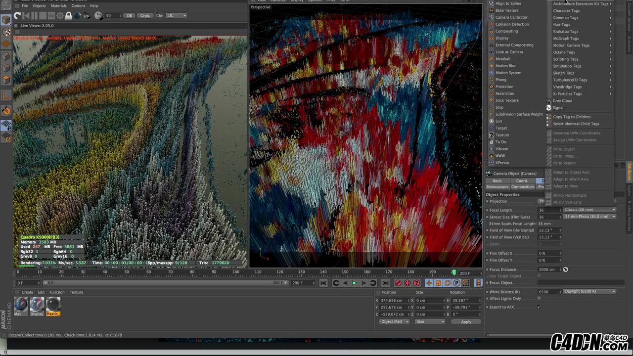 Making Colorful Abstract with X-particle in C4D_20180113180248.JPG