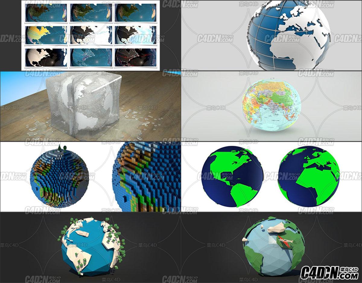 50套科幻地球欄目包裝模型預設