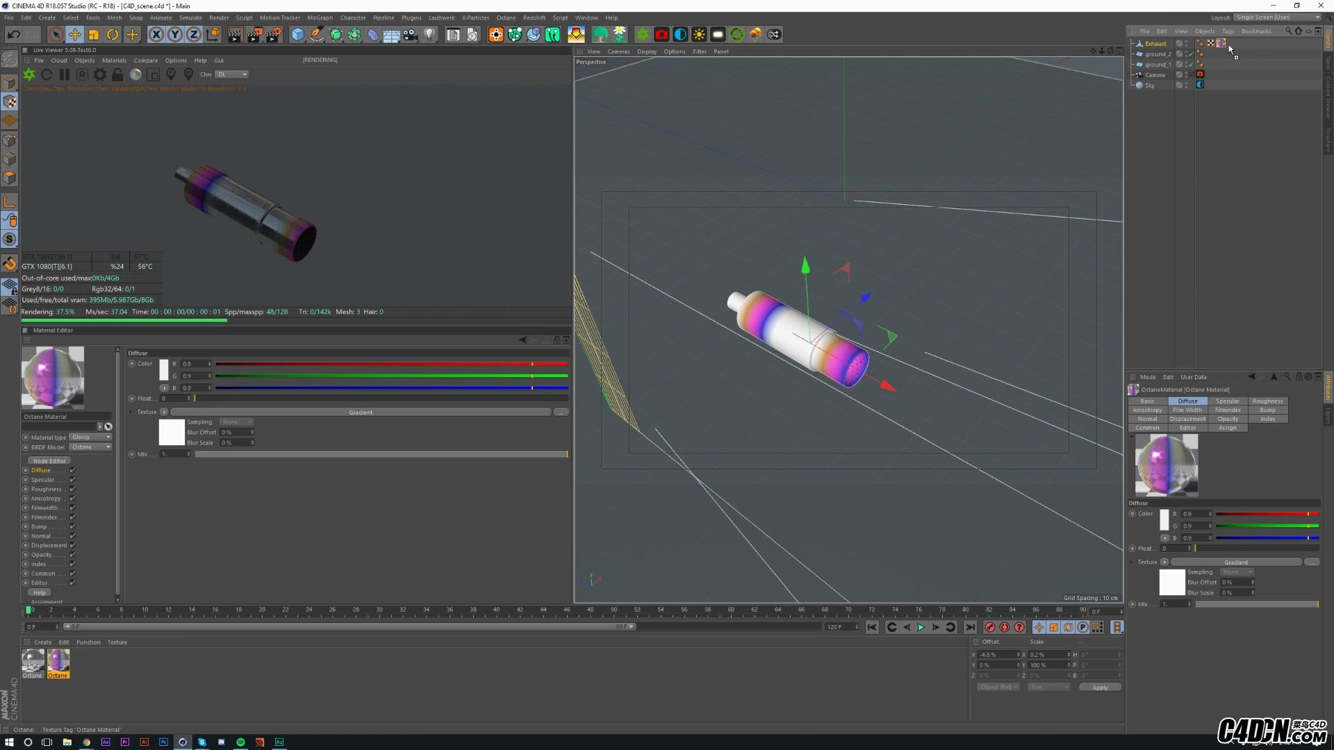 Shading an Exhaust and VDB Smoke Tutorial in Octane for Cinema 4D - Free Downloa.jpg