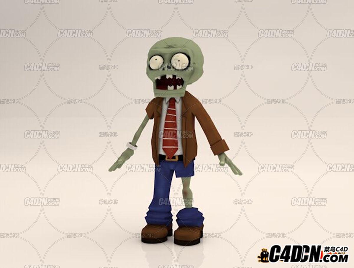 C4D模型 植物大战僵尸模型 丧尸