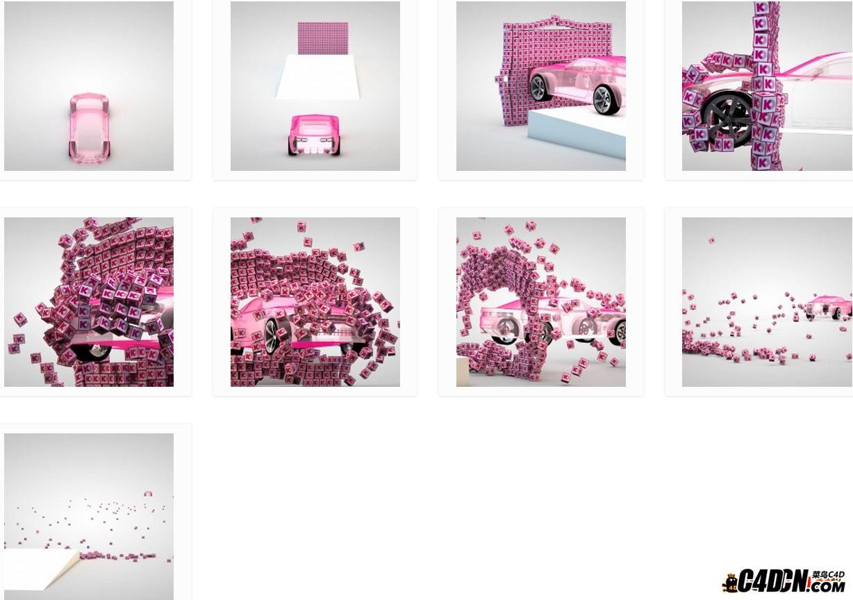 汽车撞logo墙动力模拟演绎