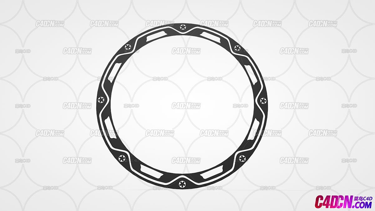 C4D模型 40 装饰性圆盘模型 Circle-Ring